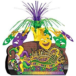 Beistle 57333 Mardi Gras Float Centerpiece, 12-3/4-Inch