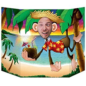 Beistle 57970 Luau Monkey Photo Prop, 3-Feet 1-Inch by 25-Inch