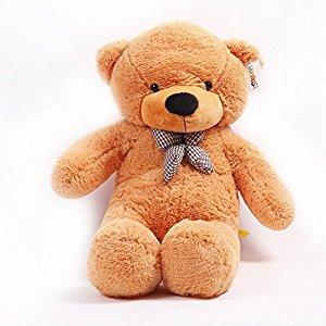 Gund huge Philbin Cream Teddy bear Cuddly Soft Plush Stuffed giant teddy bear Toy Doll (Light brown, 120CM)