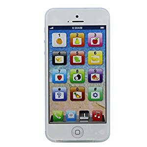 Misciu Baby Kid Child Educational Learning Mobile Phone Toy Musical Playing Kit Y-Phone (White)