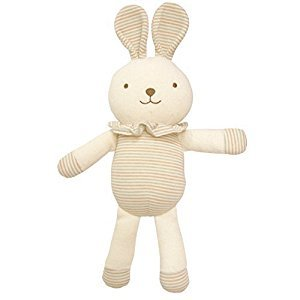 Organic Cotton Baby First Doll (No Dyeing Natural Organic Cotton) ... (Lovely Lace Rabbit 11 inches)