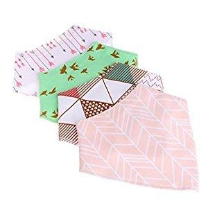 Susada 4Pcs Baby Feeding Saliva Towel Dribble Triangle Bandana Bibs (17)