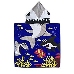 CUTE Baby Hooded Towel,STAR-TOP 100% Organic Cotton,Soft,Children's Cartoon Bathrobe for Baby Gifts (Angel) by STAR-TOP