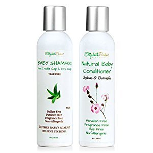 Organic Baby Shampoo and Conditioner Set for Sensitive Skin by Elizabeth Parker Naturals (4oz)