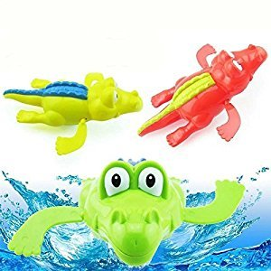Rainbowkids Baby Bath Swimming Toy Crocodile Wind Up Clockwork Play Swimming Alligator for Kid Educational Toys Infant baby Gift ,1PC for 3-48 months baby using by Rainbowkids
