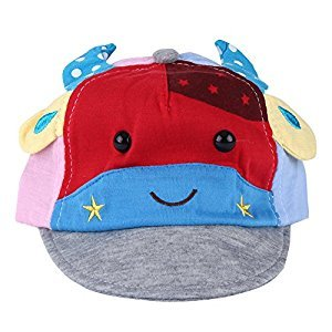 Refaxi 1Pcs Kids Boys Girls Cute Baby Cartoon Ox Beret Hat Sun Hat Baseball Cap