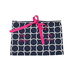 Caught Ya Lookin' Clean/Dirty Undies Bag, Blue/White/Pink