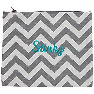 Caught Ya Lookin' Stinky Bag, Boy's Chevron/Gray/Blue/Pink
