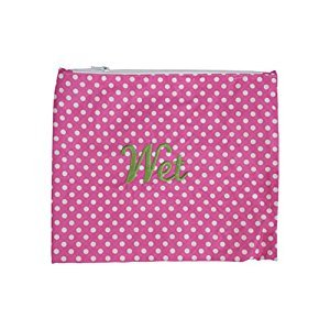 Caught Ya Lookin' Wet Bag, Light Pink Polka Dot/Pink/Green/White, One Size