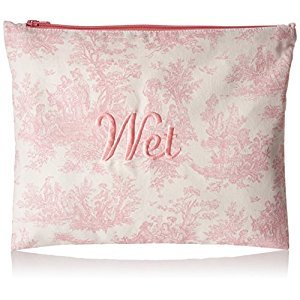 Caught Ya Lookin' Wet Bag, Toile, Pink/White, One Size