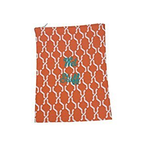 Caught Ya Lookin' Wet Stuff Bag, Orange Hexagon/Navy/Green