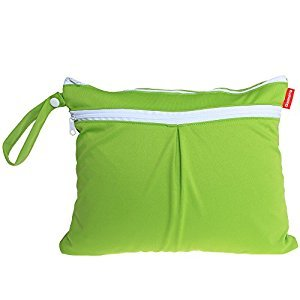 Damero Cute Travel Baby Wet and Dry Cloth Diaper Organizer Bag, Green
