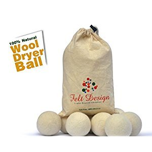 Wool Dryer Balls-6 balls in Packets,100% Pure Wool dryer balls by felts Design