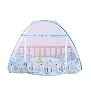 Baby Canopy Cover Pop UP Mosquito Net; Foldable AND Portable Insect Mesh Cover For Newborns Bed Summer and Camping Essential 90x110x80cm