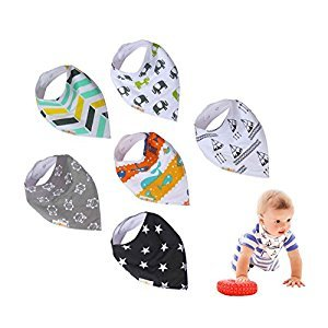 Bum Chicoo Baby Bandana Drool Bibs, 8 Unisex Bibs per Pack, 100% Organic Cotton, Baby Burb Cloths, Baby Feeding Gift Set - Multiple Designs