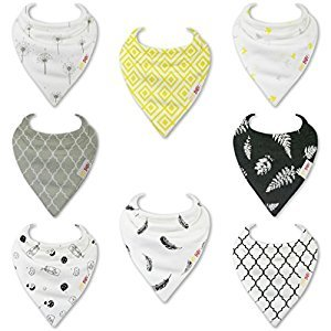 HnyBaby Baby Bandana Drool Bibs for Boys and Girls 8 Pack