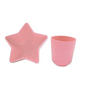 Pacific Baby Star Bowl Plus Cup, Pink