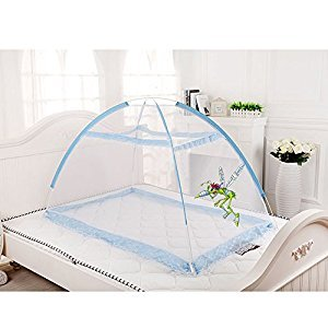 Pop Up Easy Install Baby Insect Mesh Cover for Bed, Foldable Mosquito Net Tent Bottomless with Carrying Bag