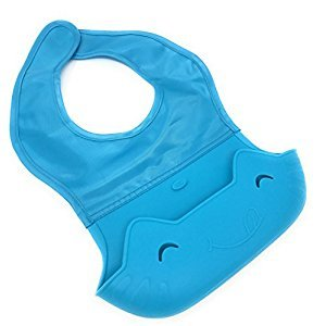 We The Planet Eco Friendly Soft, Waterproof Silicone Baby Bib Bib with Pocket