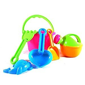 6 pcs Great Beach Sand Tools Toys Play Set for Family Summer Beach Activity Playset Gift for 1-10 Years Baby Use