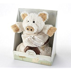 Baby Aspen Pig-n-A Blanket Gift Set, 2-Piece