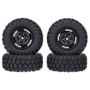 Chinatera 4pcs 96mm Natural Rubber RC Tires for 1/10 Car D90 Axial SCX10