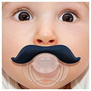 Luoke Cute Infant Silicone Pacifiers Moustache Baby Nipples Teat