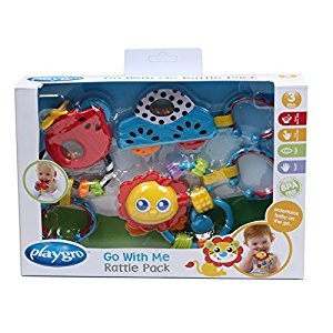 Playgro Go with Me Rattle Pack for Baby Toy