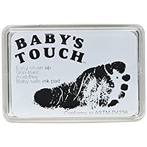Baby's Touch Baby Safe Reusable Hand & Foot Print Ink Pads - BLACK