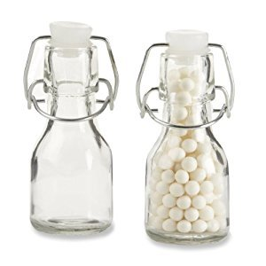 Kate Aspen Set of 12 Mini Glass Favor Bottle with Swing Top