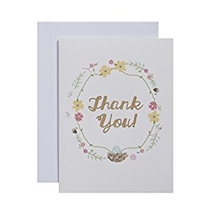 CRG Boxed Thank You Notes, Nest, 10-Count