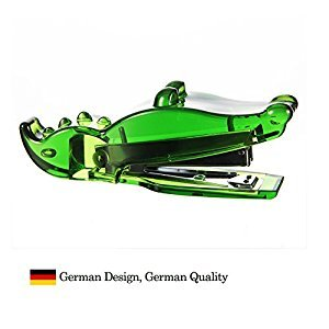 (German Design)Crocodile Stapler. Adorable alligator shape. Add your stapling pleasure, making paper work more and more fun. the perfect desktop pet(green)