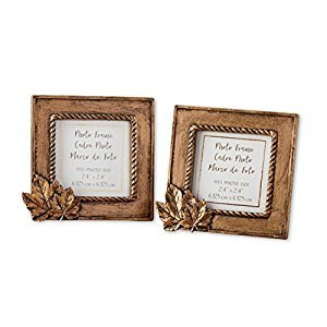 Kate Aspen Copper Frame with Leaf