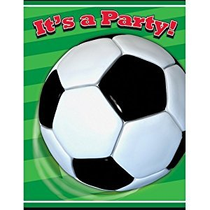 Soccer Invitations 8ct,