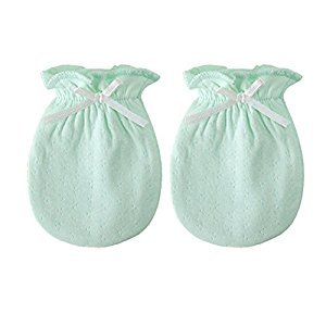 2-Packs Cute Newborn/ Infant NO-Scratching Cotton Mittens For 0-6M One Size