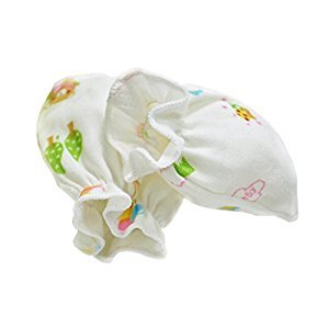 2-Packs Cute Soft Newborn/ Infant NO-Scratching Bamboo Mittens For 0-6M One Size