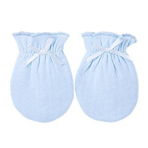 2-Packs Lovely Newborn/ Infant NO-Scratching Cotton Mittens For 0-6M One Size