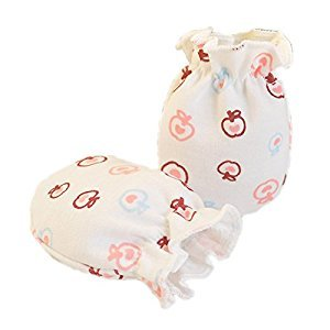 2-Packs Soft Newborn/ Infant NO-Scratching Bamboo Mittens For 0-3M ONE Size