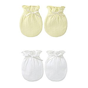 2-Packs Soft Newborn/ Infant NO-Scratching Cotton Mittens For 0-6M One Size