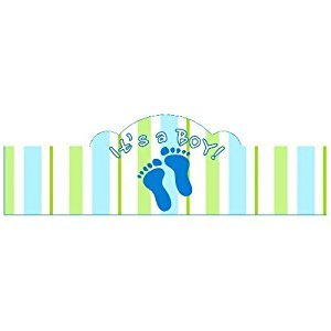 Cigar Bands Unlimited It's a BOY! Self-Adhering Cigar Bands/Labels, Baby Feet, 20 Pack