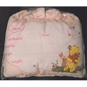 Disney Winnie the Pooh Birth Announcement Door Pillow w/ Pen