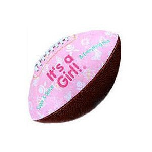 It's A Girl Football Birth Announcement New Baby Shower/Keepsake/Christening/Baby by Special Day Sport Balls