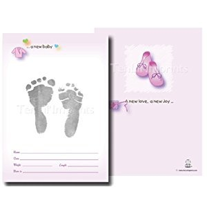 TenLil'Imprints Birth Announcement Kit, Pink/Black