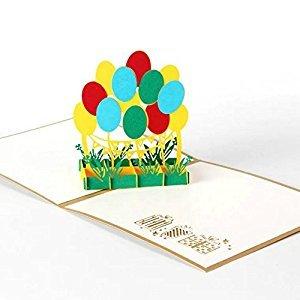 BonusLife 3D Cards Pop Up Birthday Gift Greeting Cards Thank You Card Birthday Balloons