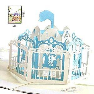 BonusLife 3D Cards Pop Up Birthday Gift Greeting Cards Thank You Card Carousel