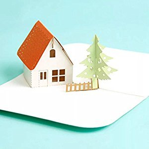BonusLife 3D Cards Pop Up Birthday Gift Greeting Cards Thank You Card House