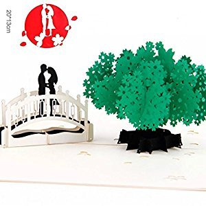 BonusLife 3D Cards Pop Up Birthday Gift Greeting Cards Thank You Card Lover and Tree