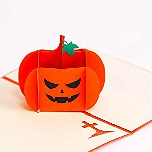 BonusLife 3D Cards Pop Up Birthday Gift Greeting Cards Thank You Cards Angry Pumpkin
