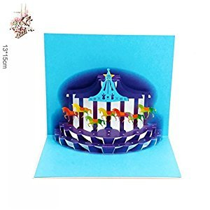 BonusLife 3D Cards Pop Up Birthday Gift Greeting Cards Thank You Cards Carousel