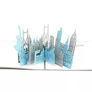 BonusLife 3D Cards Pop Up Birthday Gift Greeting Cards Thank You Cards New York City